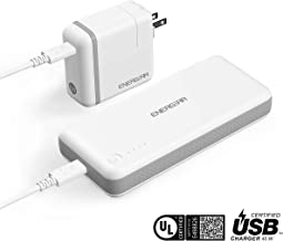 ENERGEAR 45W USB C Power Bank 10,000mAh, USB-IF/UL Certified, Portable Charger Bundled with 46W USB-C Wall Charger, PD2.0, Compatible with MacBook Pro/Air 2018, Switch, ASUS ZenBook and More -White