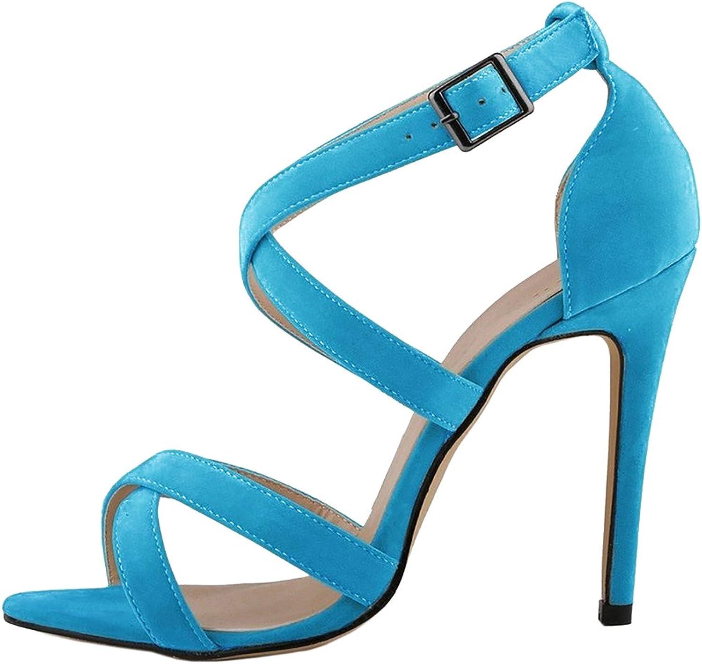Calaier kvinnor Cammountain Open Toe 12CM Stiletto Buckle Sandals skor