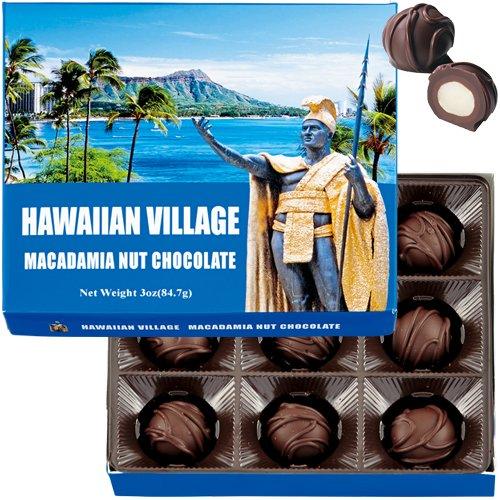 ハワイアンビレッジ マカダミアナッツチョコ 9粒入 1箱