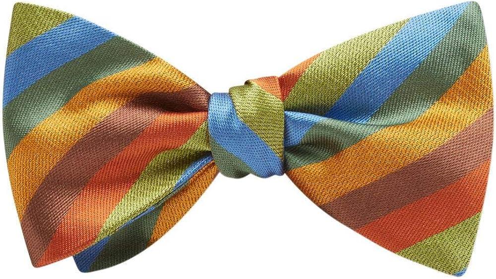 Fellsmere Green Striped, Men's Bow Tie, Handmade in the USA