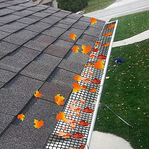 Rotolo in rete di protezione della grondaia da 15 cm x 6 m - Mantiene le grondaie libere da ostruzioni da foglie, muschio, letame, fango, palle e altri detriti - Previene l'intasamento e il trabocco
