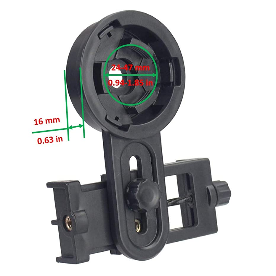 Universal Cell Phone Adapter Mount Photography Adapter Mount for Telescope, Microscope, Binocular, Monocular, Spotting Scope