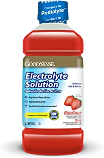 GoodSense Strawberry Electrolyte Solution, 33.8 Fluid Ounces (Pack of 6)