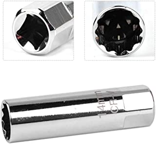 FireAngels - Llave de Vaso para bujías de 14 mm, Acero Inoxidable, 12 Puntos
