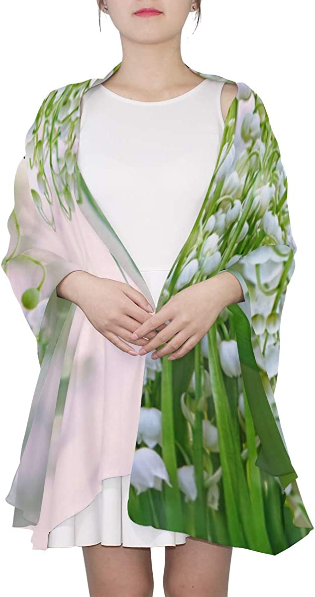Lily Of The Valley Flowers Unique Fashion Scarf For Women Lightweight Fashion Fall Winter Print Scarves Shawl Wraps Gifts For Early Spring