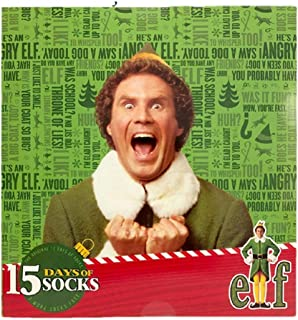 Mens Warner Brothers Elf 15 days socks - colors & Style vary 6-12