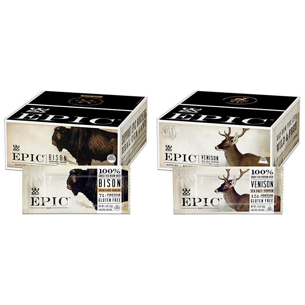 EPIC Bison Bacon Nashville-Davidson Mall Cranberry Bars Paleo Import C Grass-Fed 12 Friendly