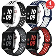EXCHAR Sport Band Compatible with Apple Watch Band 38mm 42mm 40mm 44mm Breathable Soft Silicone...
