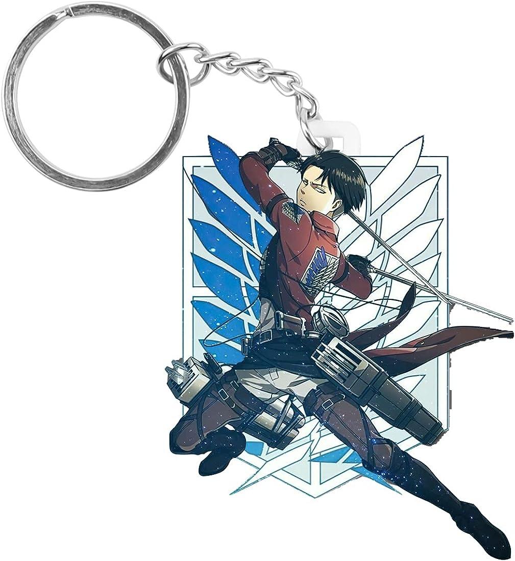 Att_ack on Tit_an Keychain-Anime Keychain AOT Cosplay Merch Key Ring 1 Set Silicone Gift for Boy,02
