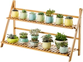 Multi Purpose Wooden Double Layer Plant Stand, Flower Pot Storage Rack Display Rack Shelf Storage Clothing Shoe Rack for Living Room Bedroom Indoor Outdoor (Size : 100x31x56cm(39x12x22inch))