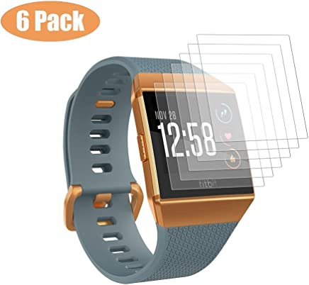 EloBeth for Fitbit Ionic Screen Protector [6-Pack], Full Coverage Screen Protector for Fitbit Ionic Military-Grade Clear HD Anti-Bubble Film