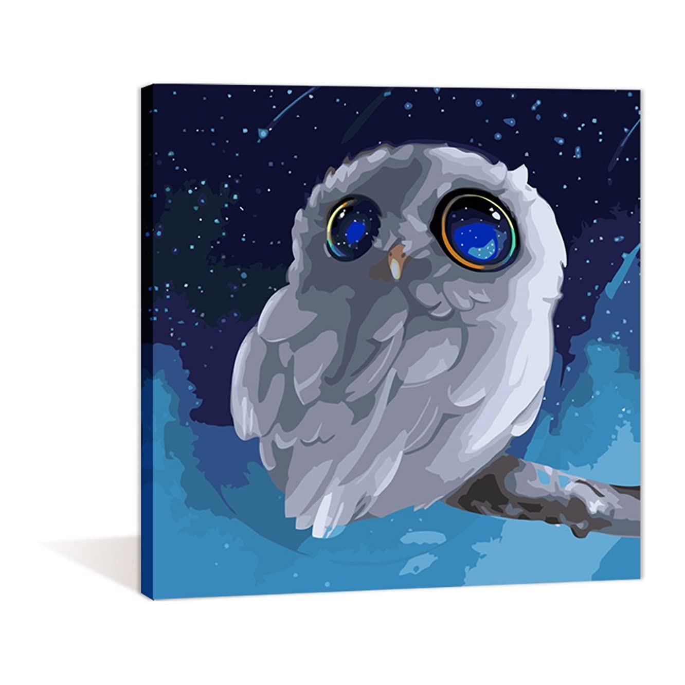 Paint by Numbers 16 x 20 inch Canvas Art Kits DIY Oil Painting for Kids/Students/Adults Beginner Wall Decorative Painting, Animal Owl(Frameless)