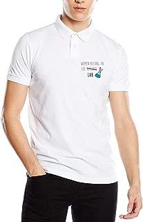 Women Belong in The Lab Unisex Adult Cotton Polo Shirt Jersey Shirt