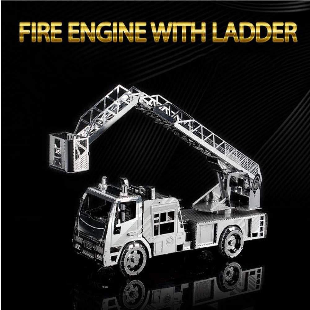 MQKZ Escalera Tridimensional 3D camión de Bomberos de Metal Modelo ...