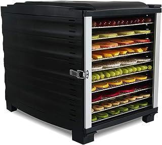 Déshydrateur de nourriture, séchoir à fruits commercial 10 plateaux avec plateau en acier inoxydable, affichage LED minute...