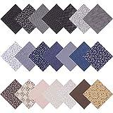 AUXSOUL 21 piezas patrón de algodón para manualidades, tejido de algodón patchwork, paquete de tela de costura, patchwork, paquete de telas para coser, 25 x 25 cm