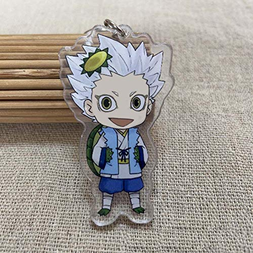 Saicowordist Haikyuu!! Keychain Double-sided Clear Acrylic Key Ring Color Printed Pendant Clothing Bag Accessories( Style 10)