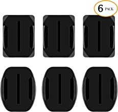Sametop Helmet Adhesive Mounts Flat Curved Mount 3M Sticky Pads Compatible with GoPro Hero 7, 6, 5, 4, Session, 3+, 3, 2, 1, Hero (2018), Fusion Cameras