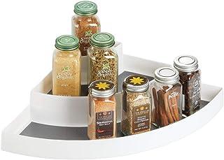mDesign étagère d'angle à 3 Niveaux – Petit Rangement de Cuisine en Plastique – idéal comme Range épices et pour Organiser...