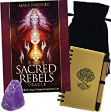 Sacred Rebel Oracle Deck Set with Tarot Bag, Amethyst, & Journal With Pen