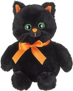Bearington Ebony Plush Halloween Black Cat Stuffed Animal، 7 اینچ