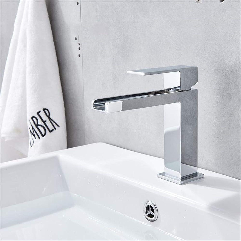 YAWEDA Mode Chrom Poliert Wasserfall-Badezimmer-Bassin-Hahn-Deck Montiert Einhand-Loch Kalt Und Warmwasser-Mischer-Hahn