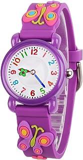 Venhoo Kids Watches 3D Cute Cartoon Waterproof Silicone Children Toddler Wrist Watch Time Teacher Birthday 3-10 Year Girls Little Child