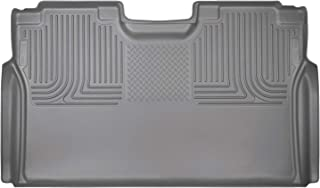 Husky Liners Fits 2015-19 Ford F-150 SuperCrew, 2017-19 Ford F-250/F-350 Crew Cab - without factory storage box Weatherbeater 2nd Seat Floor Mat (Full Coverage),Grey,19372