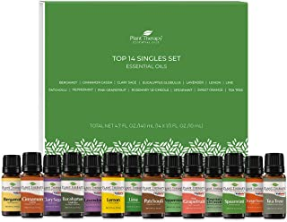 Plant Therapy Top 14 Singles Set | Lavender, Eucalyptus, Peppermint, Orange Sweet, Lemon & More | 100% Pure, Undiluted, Na...