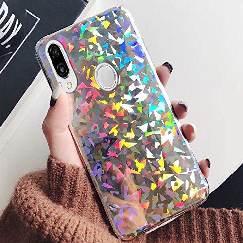 ikasus Carcasa para Samsung Galaxy S9 transparente y ultrafina silicona y TPU, cobertura de 360/º cobertura completa brillante y brillante suave y con purpurina en la parte delantera y trasera