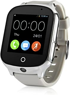 3G WiFi Phone Call GPS Smart Watch, Laxcido Real-time Tracking SOS GPS Tracker Watch, Geo-Fence Elderly GPS Watch Touch Screen Camera Step Counter Kids GPS Watch SOS Alarm Anti-Lost GPS Watch