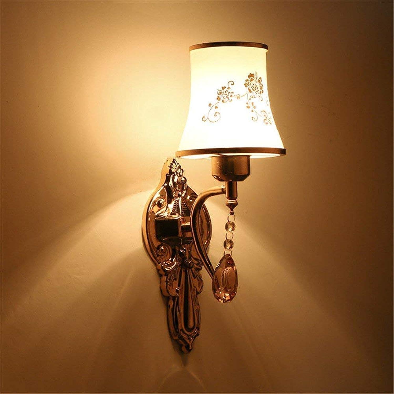 BAIJJ Einfache Schlafzimmer Nachtwandleuchte Kristall Wohnzimmer Restaurant Wandleuchte Persnlichkeit Gang Küche Korridor Led Glas Blütenblatt Lampe, einzigen Kopf