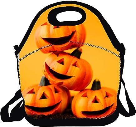 INTERESTPRINT Halloween Pumpkins on Jack Head Purses and Handbags Shoulder Bag for Women Ladies Girls