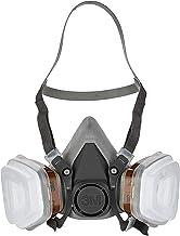 3M Herbruikbaar Verfmasker 6002C – Halfmasker Met Wisselfilters Tegen Organische Gassen En Deeltjes, Een maat, Grijs
