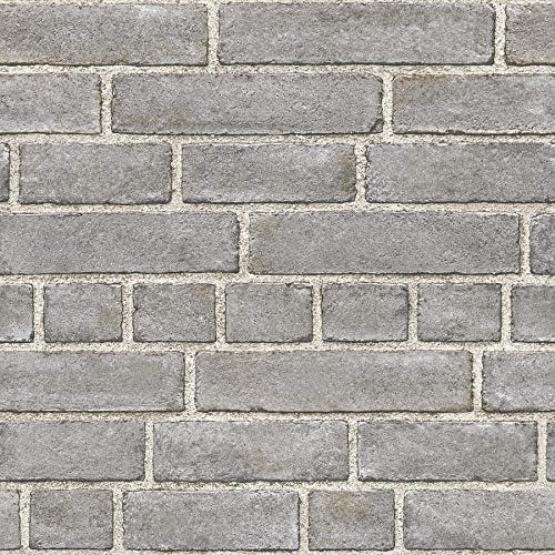 NuWallpaper Grey Brick Facade Peel and Stick Wallpaper product image