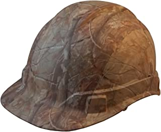Pyramex Cap Style RIDGELINE Patterned Hard Hat with 6 Point Ratchet Suspension and Hard Hat Tote - Camo Pattern