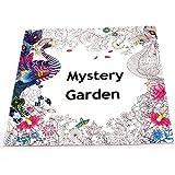 anggelInglés adulto misterio Garden Treasure Hunt Coloring Painting Book