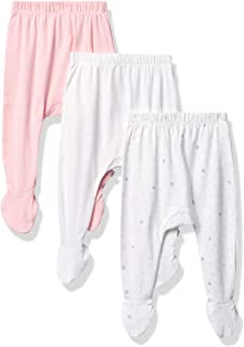 HonestBaby Baby 3-Pack Organic Cotton Footed Harem Pants