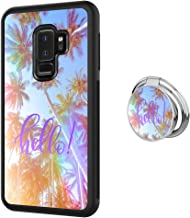 Case for Samsung Galaxy S9 Plus case Palm Trees with Ring Holder Slim Soft and Hard Tire Shockproof Protective Phone Cover Case Slim Hybrid Shockproof Protective Case Anti-Scratch Cushion Bumper with