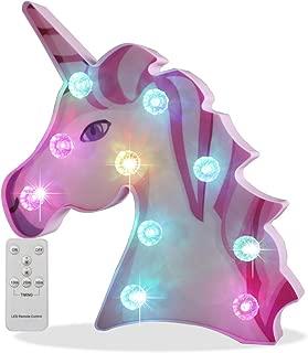 unicorn light with name