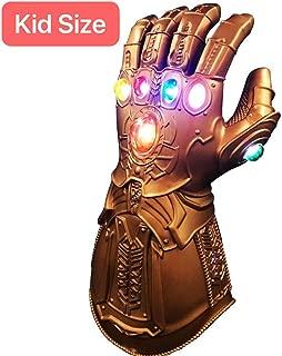 XIAO MO GU Thanos Handschuhe, Thanos Infinity Gauntlet LED-Handschuhe, Thanos Cosplay Latex-Handschuhe Halloween Party Zubehör für Kinder