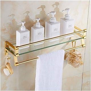 YF-SURINA Étagère en verre trempé de salle de bains Rectangle mural, étagère de rangement pour cuisine de salle de bain Yu...