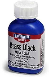 BIRCHWOOD CASEY Brass Black Metal Finish, 3-Ounce