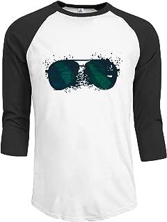 YUANXUAN Sunglasses Raglan 34 Sleeves T-Shirt for Mens