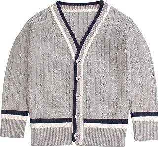 XIAOHAWANG Baby Boys Cardigan Button up Toddler Knit Sweater Organic Cotton for Newborn