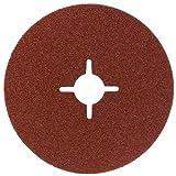 Bosch DIY Fiberschleifscheibe (für Winkelschleifer verschiedene Materialien, 5 Stück, Ø 125 mm, Körnung 36)