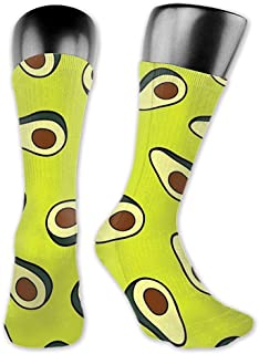 Calcetines Avocado Men's and Women's Moisture Wicking Lightweight Socks Personality Cute Novelty Casual Crew Socks Multi-Purpose Funny Work Home Dress Socks Boot Socks