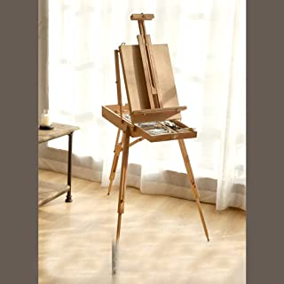 YXSDD Folding Portable Easel, Independent Drawer Design for Easy Storage (Color : Wood Color)