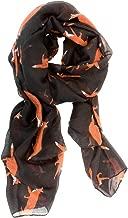 Equestrian Scarf - Black Fox Trot Scarf