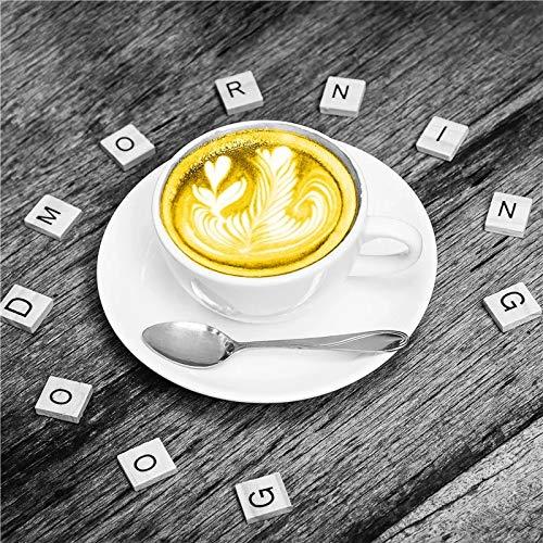 JHGJHK Taza de café Amarilla Estilo nórdico Pintura al óleo impresión Arte Dulce decoración del hogar Pintura artística decoración de Restaurante (Imagen 2)